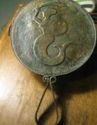 miedziane lusterko z syrenką