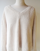 Sweter Beżowy Pluszowy Cubus XL 42 Oversize...
