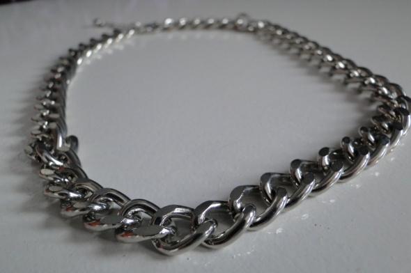 Naszyjnik gruby łańcuch srebrny
