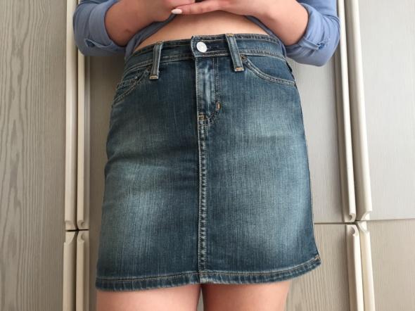 Jeansowa mini spódniczka S