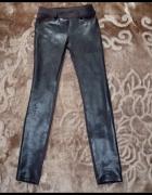 legginsy czarne nabłyszczane elastyczne 36