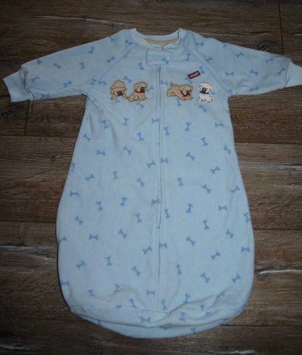 Piżamka śpiwór niemowlęcy polar