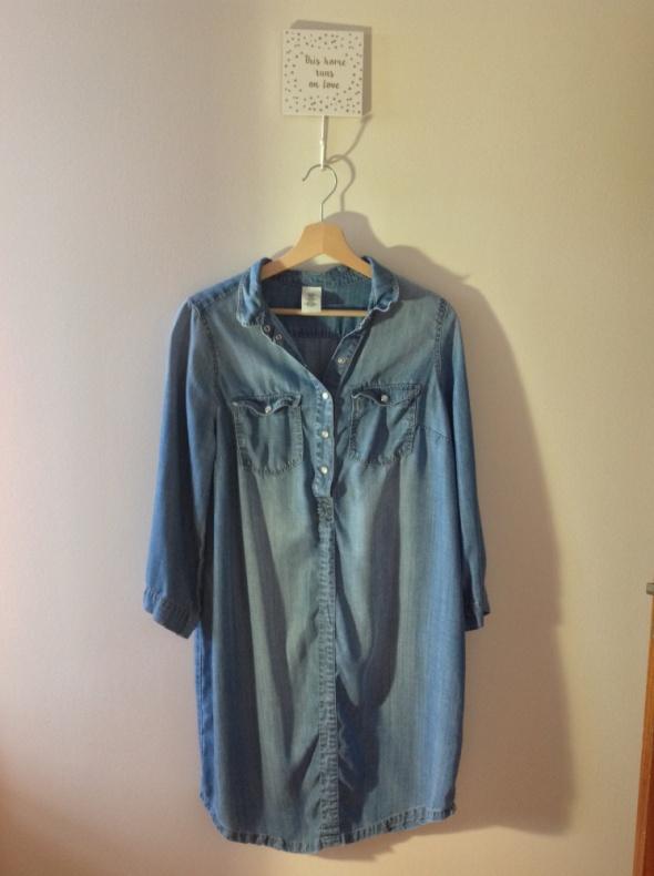 af4249b15d Sukienka jeansowa ciążowa i do karmienia HM mama w Suknie i sukienki ...