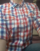 Damska koszula w kolorową kratkę...