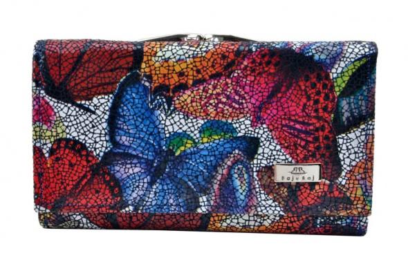 284c3cab84afc Portfel damski skórzany BajuBaj motyle mozaika w Portfele - Szafa.pl