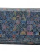 Portfel damski skórzany BajuBaj mozaika granatowy