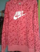 Męska bluza Nike z kapturem malinowa rozmiar M...