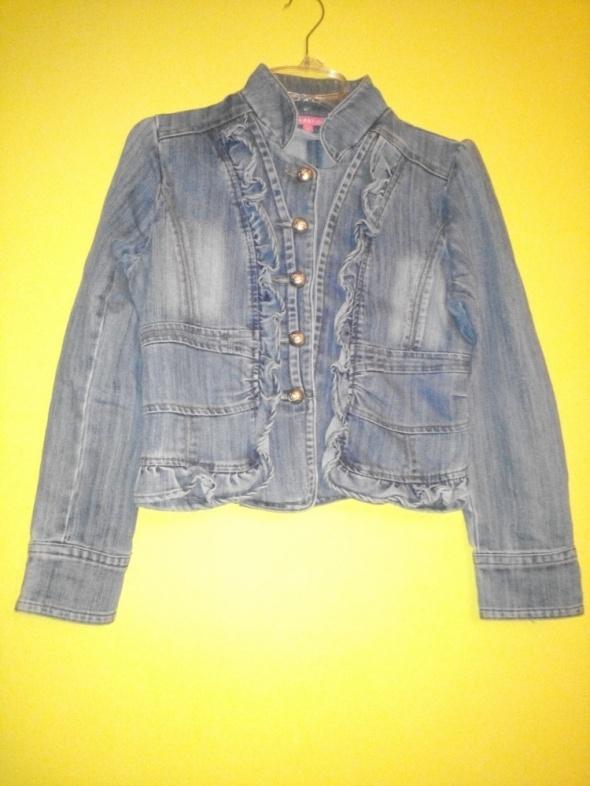 Odzież wierzchnia MONDAY Fajna kurtka marynarka jeans r 40 L