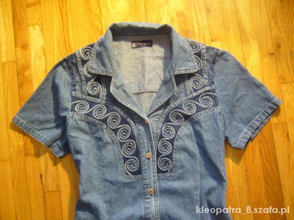 Jeansowa sukienka 42 44 tanio