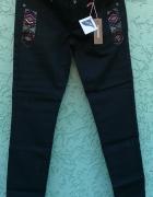 czarne spodnie rurki 34 nowe