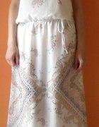 NEXT cena z wys 45 zł NOWA maxi sukienka biała 38