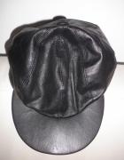 Nowa czapka z daszkiem ze skórki naturalnej