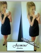 JASMINE LONDON Sukienka PERŁY Elegancka Mała Czarna