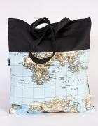 Mapa torba siatka ręcznie szyta