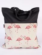 Flamingi siatka torba