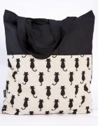 Kotki torba siatka ręcznie szyta