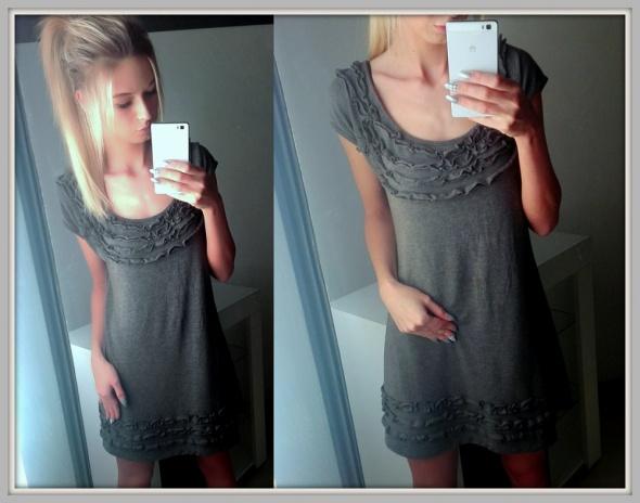 Suknie i sukienki DZIANINOWA Tunika Sukienka Sweter MIĘCIUTKA