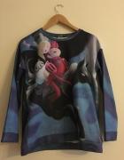 Bluzka Koszulka Galaxy Pora Na Przygodę Kolorowy Nadruk Długi Rękaw M 38