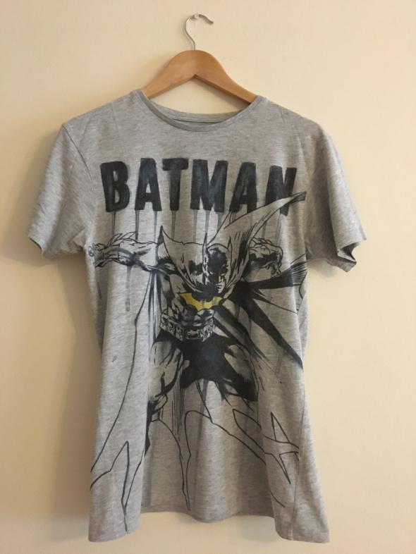 T-shirt Tshirt Bluzka Koszulka Batman Szara Nadruk DC Comics 38 M