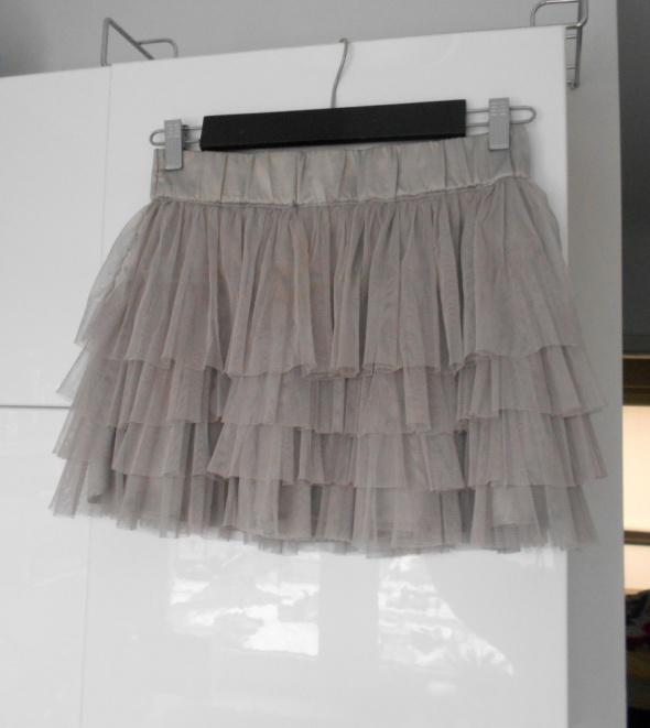 f36b5c9f HM spódniczka tiulowa falbanki tiul pudrowa tutu baletnica w ...