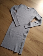 Dzianinowa szara sukienka hit