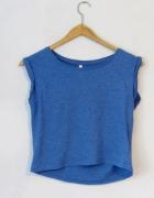 Krótka koszulka niebieska