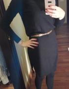 Czarna sweterkowa sukienka S...