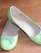 Śliczne zielone balerinki