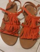 h&m sandały boho koral 36