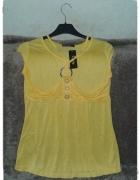 Żółta bluzka z krótkim rękawkiem