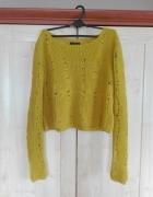 Żółty sweter top shop