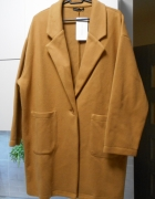 Zara nowy płaszcz camel oversize beżowy