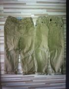 2 pary beżowych spodni rurek 92 98 od 2 do 3 lat