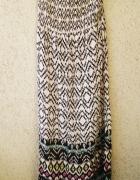 love&soul długa sukienka wzorzysta maxi boho rozmiar 40