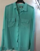 turkusowa koszula mgiełka bershka 40 L...