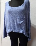 Asymetryczny rudy sweter z kieszeniami r XS
