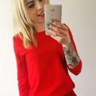 sukienka dresowa czerwona