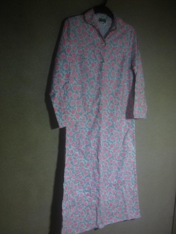 Flanelowa długa koszula nocna vintage 42 w Koszule nocne  cJraH
