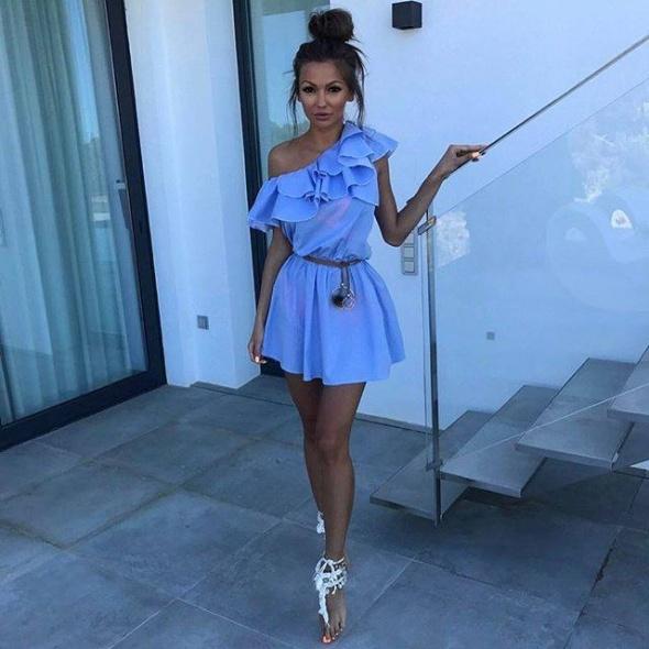 Sukienka hiszpanka baby blue...