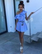 Sukienka hiszpanka baby blue