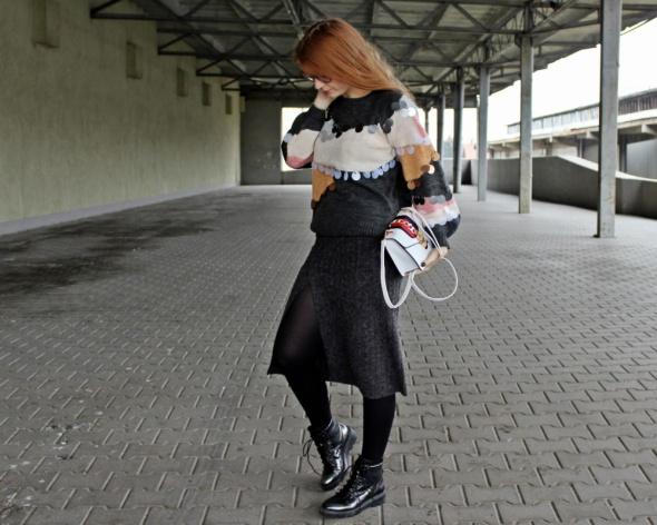Blogerek Wełniany look zimowy