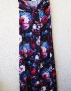 new look długa sukienka maxi w kwiaty róże boho...
