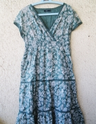 dash zielona letnia sukienka wzorzysta w kwiaty rozmiar 46...