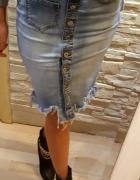 Spódnica jeansowa fredzle materiał rozciagliwy rozmiarowka