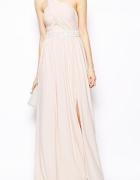 Sukienka Asos maxi pudrowy róż NOWA 38 tylko teraz w takiej cen...