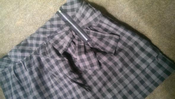 Spódnice spódniczka w kratkę z kokardką L XL