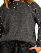 nowy sweter perly...