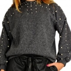 nowy sweter perly