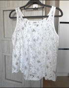 Glamorous koronkowy top biały koronka lace asos