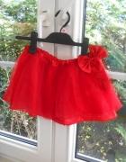 Claires tiulowa spódniczka czerwona tiul mini